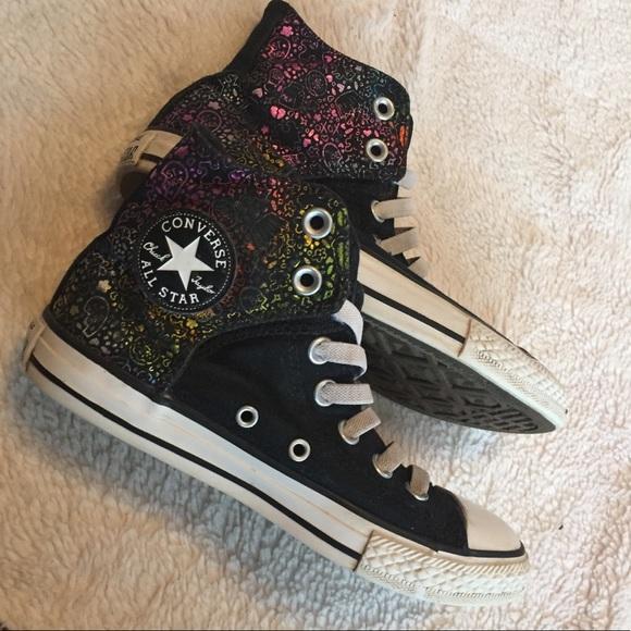 384593eb8503 Converse Other - Kids Converse Chucks Rainbow metallic high tops